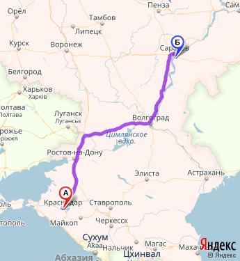 поезд краснодар саратов маршрут