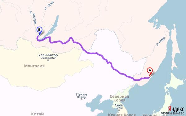 Расстояние южно сахалинск до красноярска
