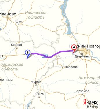 Сколько км от сеченова до талызина нижегородская обл