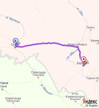 барнаул-омск карта яндекс км могу