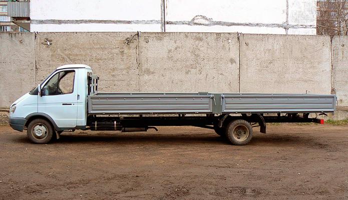 удлинённая 6 метровая газель для перевозки досок вагонки пиломатериалов бруса